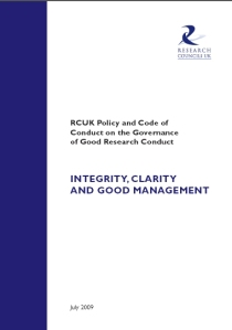 The new guidelines from Research Councils UK will see greater emphasis on research ethics