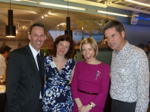 (L to R): Carl Vivian, geneticist Turi King, historian Lucy Worsley and Jon Shears